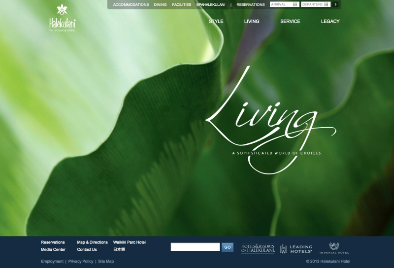 Halekulani Website