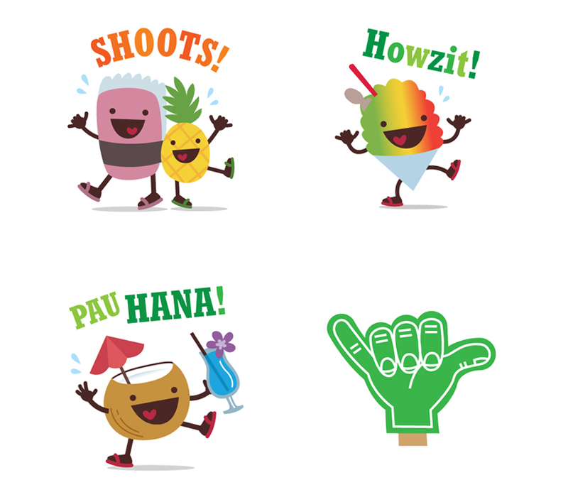 Alohamoji Characters