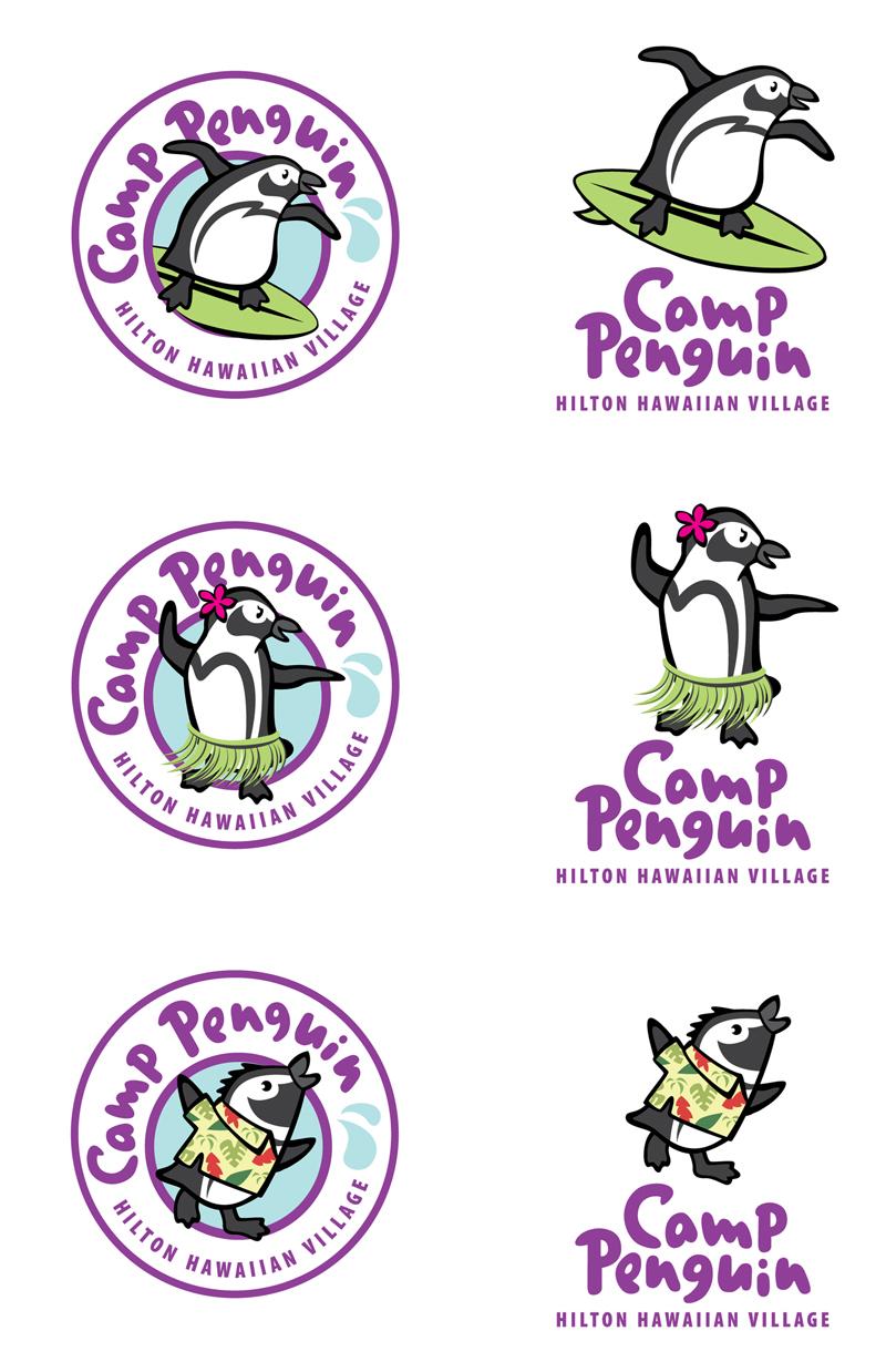 Camp Penguin logos - Hilton Hawaiian Village