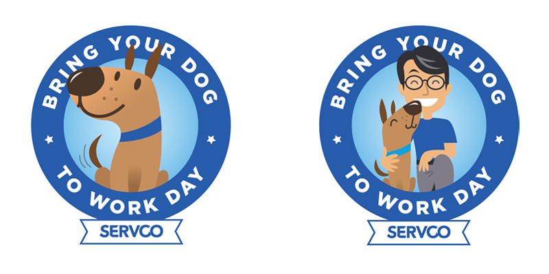 Bring Your Dog To Work Day Logos